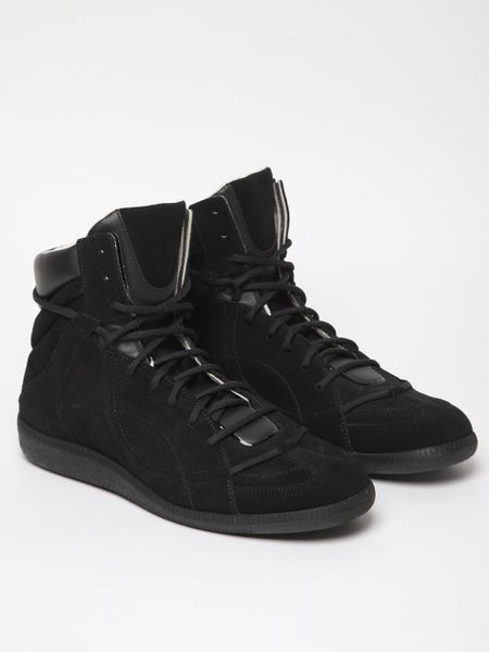 Maison Martin Margiela 22 Mens High Top Sneaker in Black for Men - Lyst