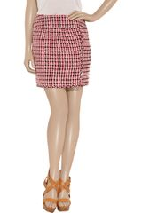 Moschino Bouclétweed Mini Skirt in Red - Lyst