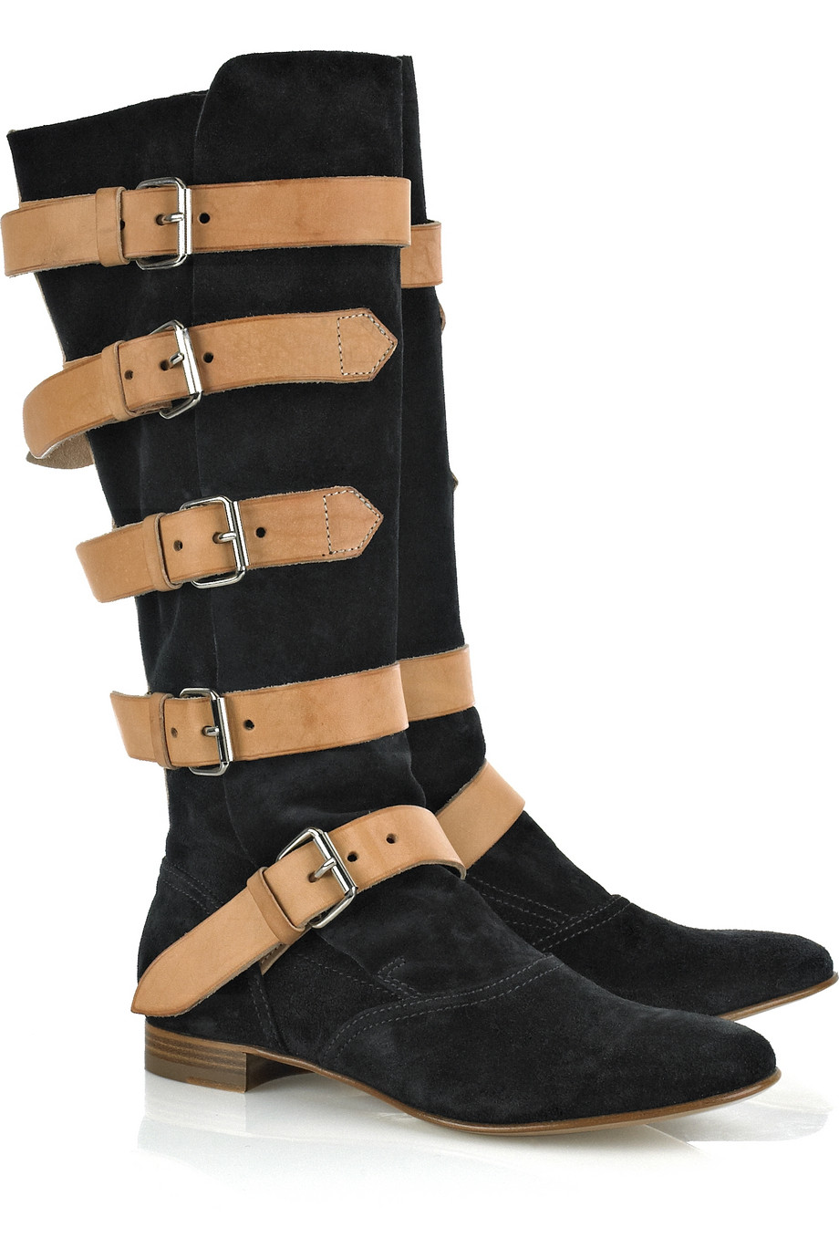 Vivienne Westwood Suede Pirate Boot In Black Lyst