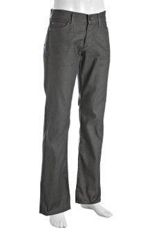 7 For All Mankind Grey Stretch Denim Standard Straight Leg Jeans - Lyst
