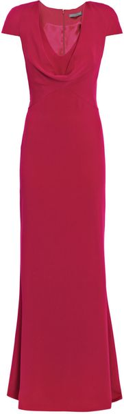 Alexander Mcqueen Cowlneck Silkcrepe Dress in Purple (pink) - Lyst