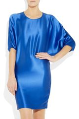 Amanda Wakeley Hammered Silk-Satin Dress - Lyst