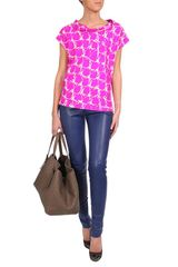 Balenciaga Printed Silk Twill Top in Pink - Lyst
