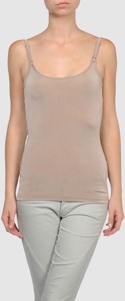 Burberry Tops in Gray (grey) - Lyst
