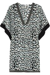 Diane Von Furstenberg Sporty Kleio Printed Cotton Kaftan in Blue - Lyst