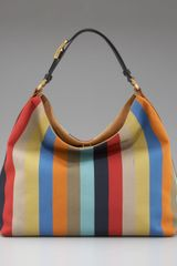 Fendi Pequin Striped Hobo - Lyst