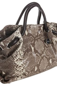 Furla Roccia Snake Embossed Leather Carmen Medium Tote - Lyst