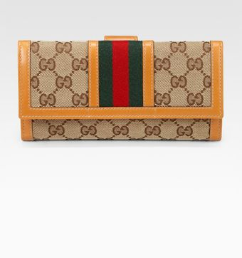 Gucci Ladies Vintage Web Continental Wallet - Lyst
