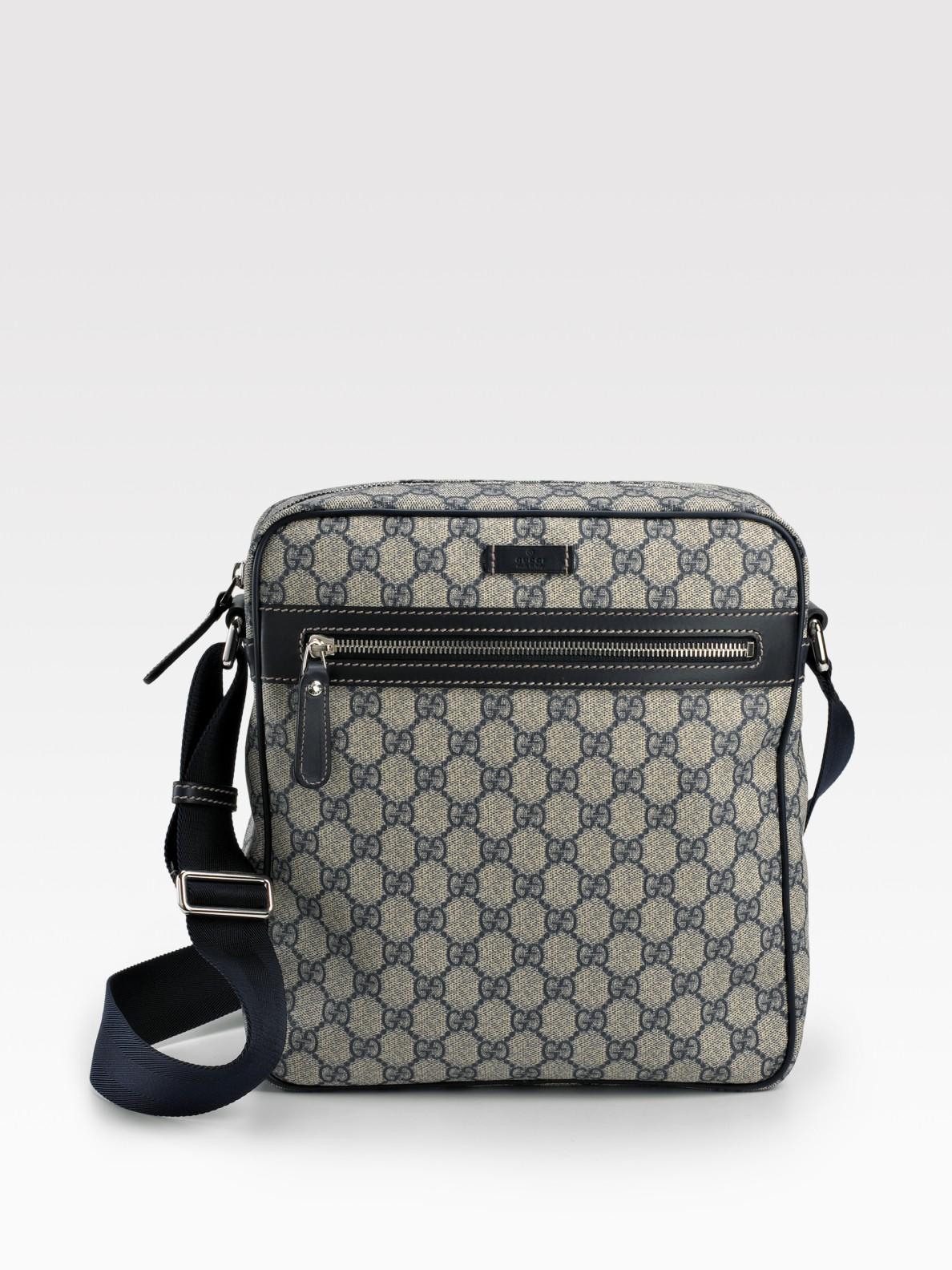 98c052daacf Lyst - Gucci Messenger Bag in Natural for Men
