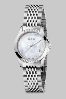Gucci Diamond Accented Stainless Steel Watch - Lyst