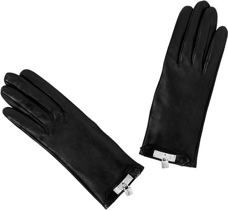 Hermes 'Soya' Gloves  in Black - Lyst