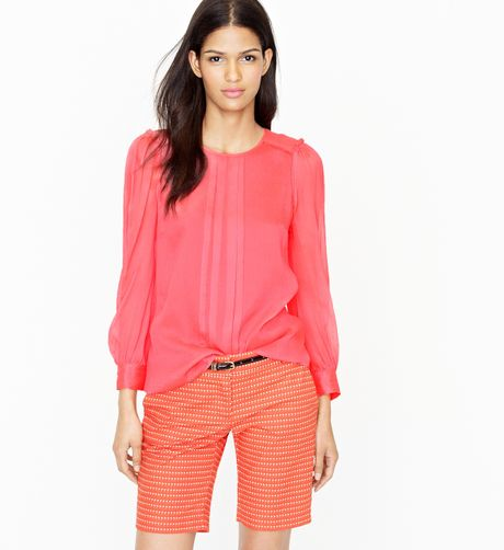 J Crew Hot Pink Silk Blouse 85