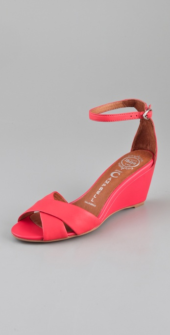 Lyst Jeffrey Campbell Trudeau Wedge Sandals In Pink