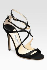 Jimmy Choo Sandal Heels in Black - Lyst