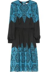 Jonathan Saunders Avery Printed Silk-satin Dress - Lyst