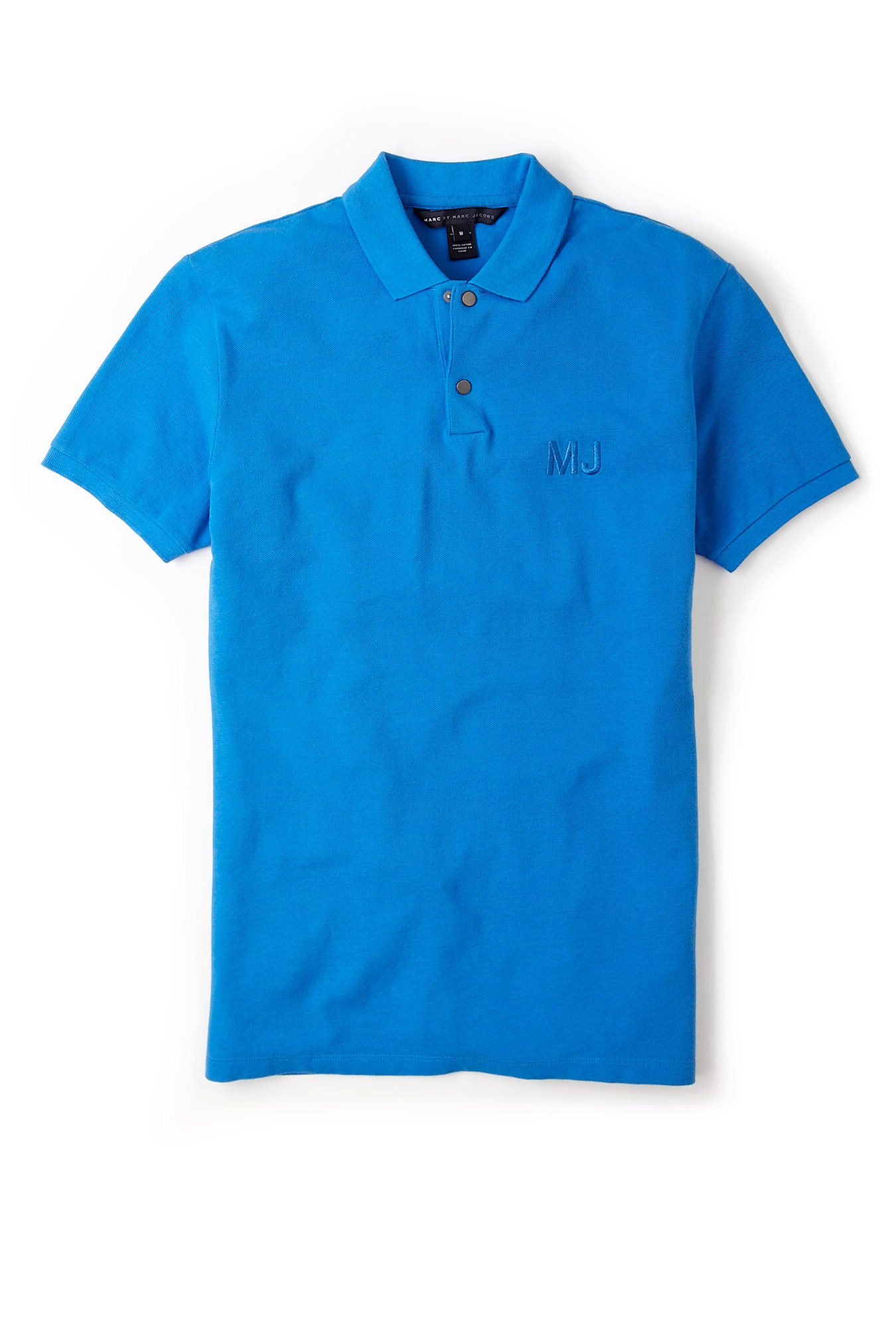 Marc by marc jacobs blue embroidered logo polo shirt in for Logo embroidered polo shirts