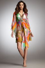 Matthew Williamson Silk Beaded Coverup - Lyst