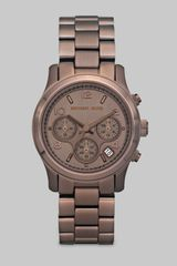 Michael Kors Chocolate Stainless Steel Chronograph Watch in Brown (espresso) - Lyst