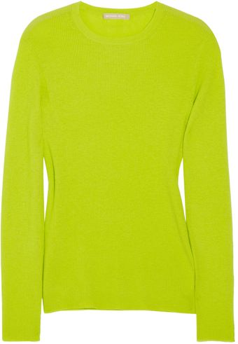 Michael Kors Ribbed Cashmere Sweater - Lyst
