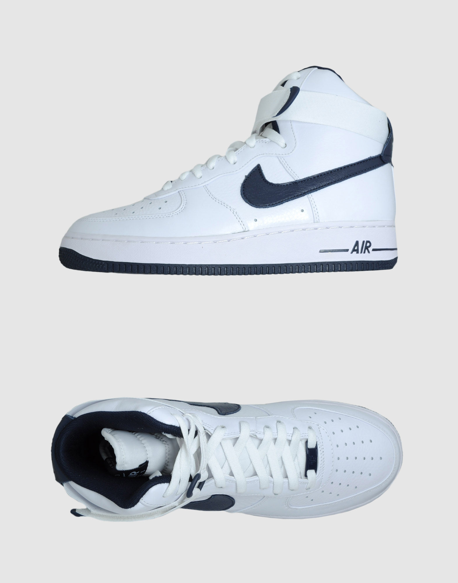 nike air force 1 high top sneakers in white for men lyst. Black Bedroom Furniture Sets. Home Design Ideas