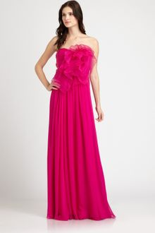 Notte By Marchesa Silk Chiffon Gown - Lyst