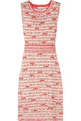 Oscar de la Renta Crocheted Silk Dress - Lyst
