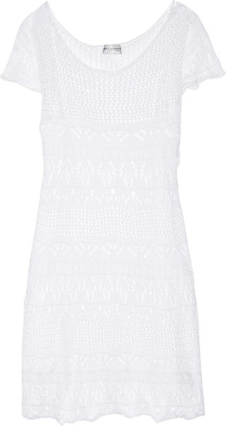 Philosophy di Alberta Ferretti Crocheted Cotton Mini Dress - Lyst