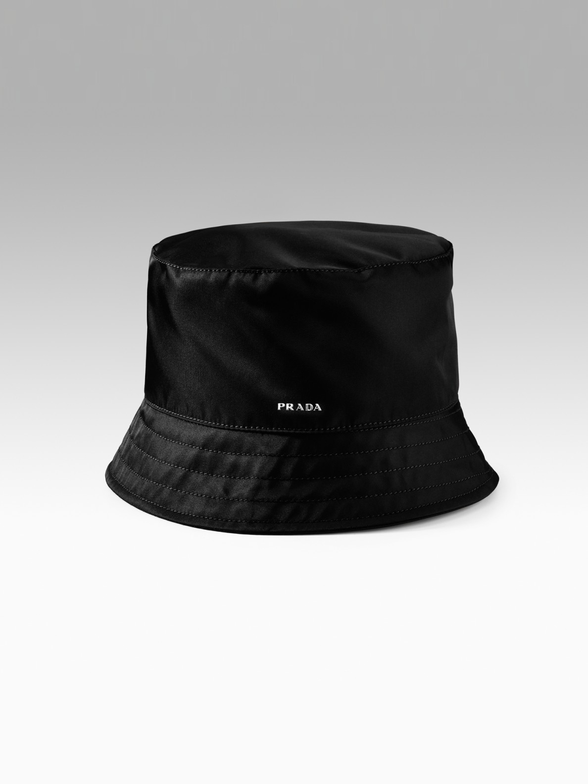 Prada Nylon Bucket Hat In Black For Men Lyst