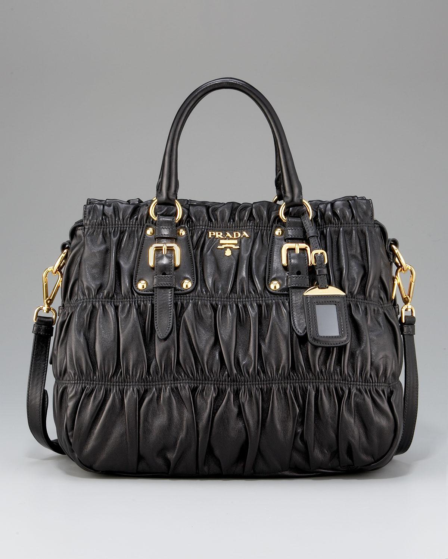 Prada Nappa Gaufre Black Shoulder Bag 79