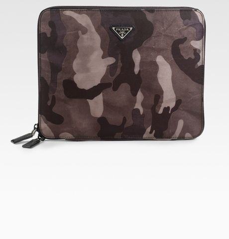 Prada Nylon Camouflage Case For Ipad in Green for Men - Lyst