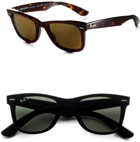 Ray-ban Wayfarer Sunglasses in Black for Men - Lyst