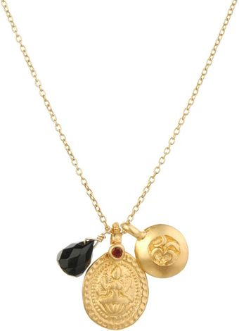 Satya Jewelry Lady Luck Necklace in Onyx - Lyst