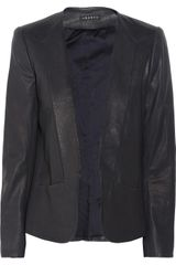 Theory Leather Blazer - Lyst