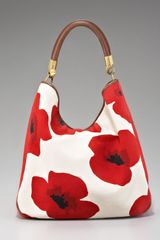 Yves Saint Laurent Roady Floral-print Hobo - Lyst