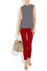 Yves Saint Laurent MidRise Skinny Jeans in Red (ruby) - Lyst