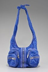 Alexander Wang Donna Washed Leather Hobo in Blue (azure) - Lyst