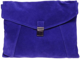 ASOS Collection Asos Suede Large Envelope Clutch Bag - Lyst