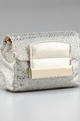 Jimmy Choo Glitter-fabric Clutch - Lyst