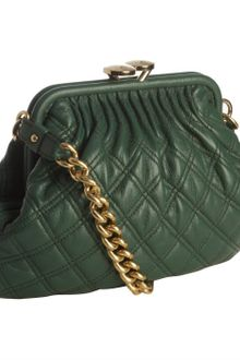 Marc Jacobs Green Quilted Leather Little Stam Shoulder Bag - Lyst