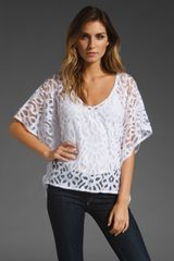 Velvet Patty Lace Top - Lyst