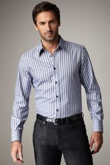 Versace Optical-stripe Sport Shirt - Lyst