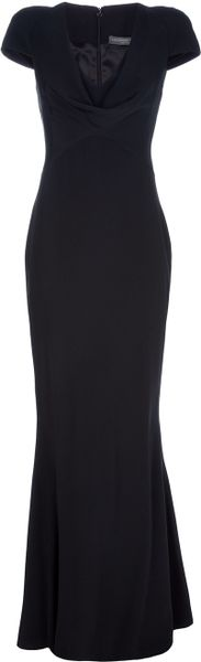 Alexander McQueen Long Silk Dress - Lyst