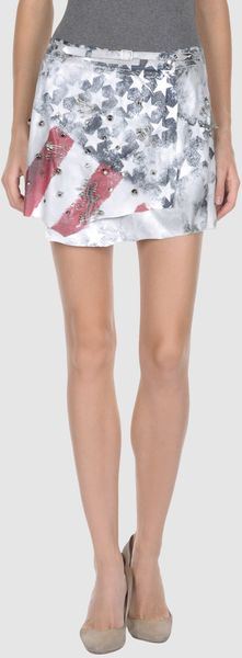 Mariagrazia Panizzi Mini Skirts in Blue (grey) - Lyst