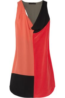 Alexander Wang Color-block Silk Crepe De Chine Dress - Lyst