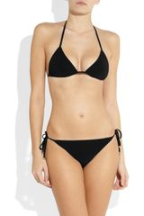 Gucci Triangle Bikini in Black - Lyst