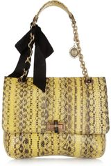 Lanvin Happy Elaphe Shoulder Bag - Lyst