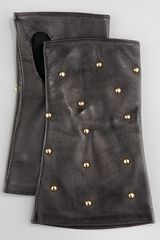 Portolano Products Fingerless Studded-leather Gloves - Lyst