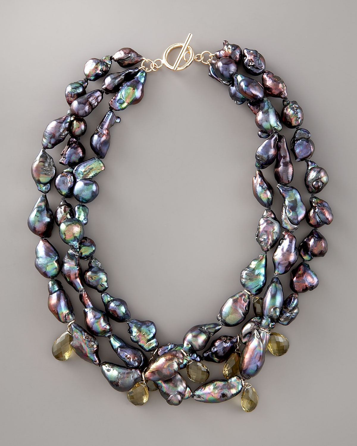 Wendy Brigode Black Baroque Pearl Necklace In Black Lyst