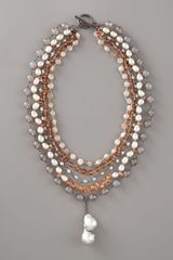 Wendy Brigode Multi-strand Necklace - Lyst