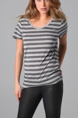 Zoe Karssen Striped Tee - Lyst